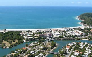 Aerial view of Noosa