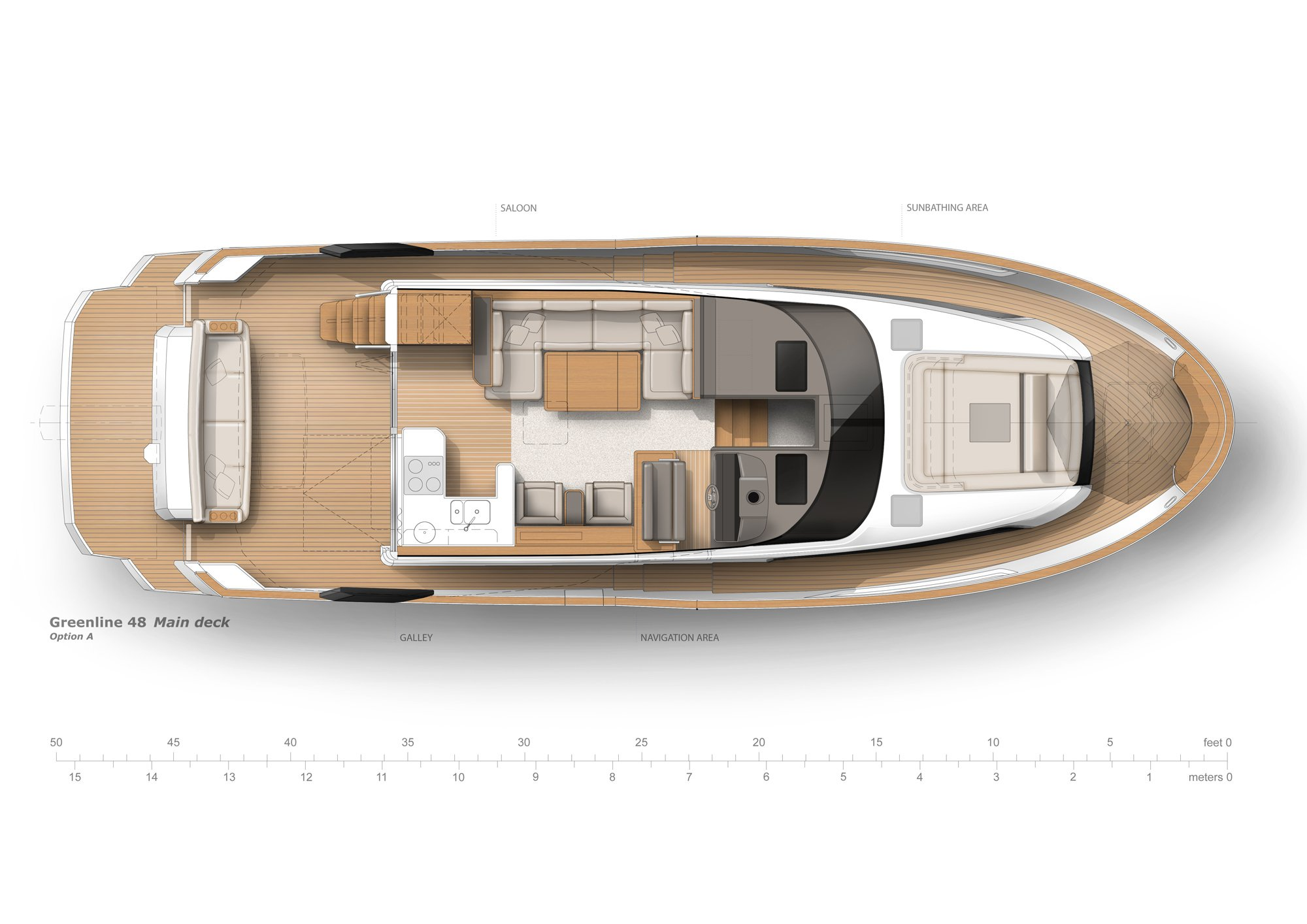 Sundecker 36 - Floorplan